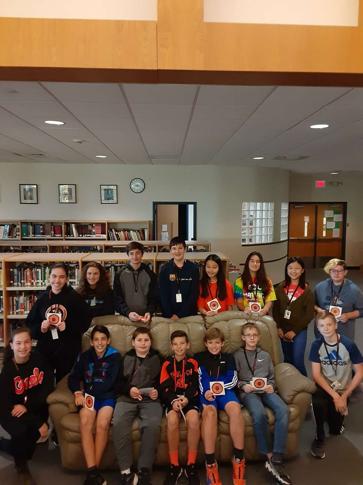The Shelton Intermediate School's students of the month winners for September.