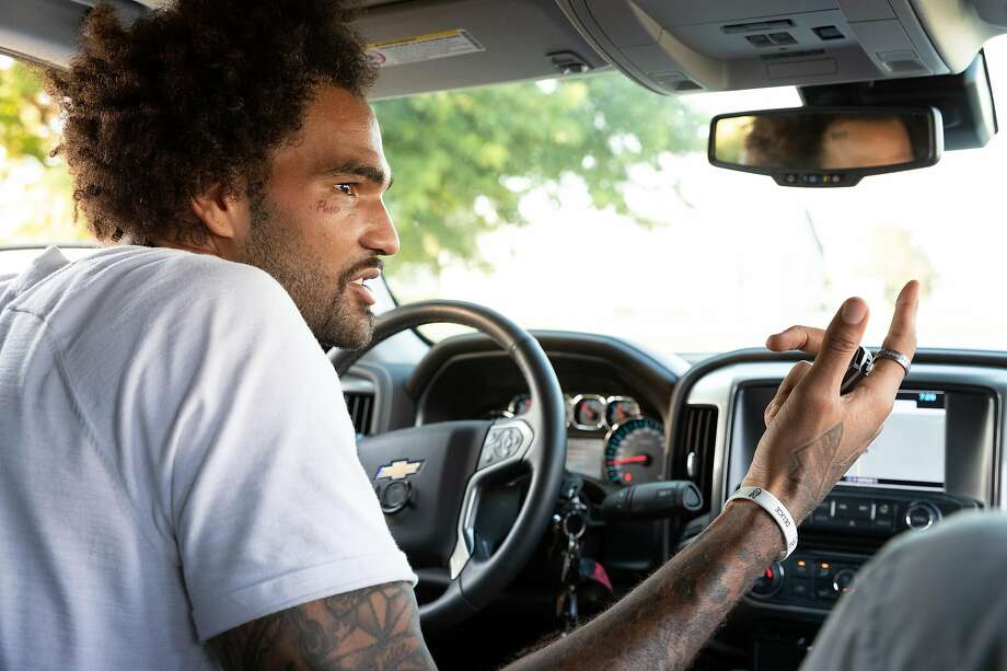 "Willie Cauley-Stein discusses childhood memories while driving around Spearville, Kan. ""I could've done everything I wanted to do and still done right by Spearville,"" he said. Photo: Adam Shrimplin / Special To The Chronicle"