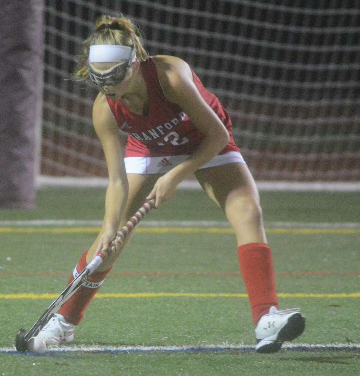 Branford's Brianna Shaw controls the ball during Wednesday's match against North Branford.