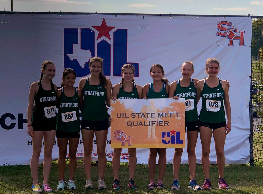 The girls cross country team ofFay Gibb, Hope Sage, Marlene Soto, Olivia Hirst, Megan Broom, Gianna Avila, Kirby Crow put Stratford in the UIL state championships for the sixth consecutive season. Photo: Stratford High School / Stratford High School