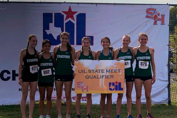 The girls cross country team of Fay Gibb, Hope Sage, Marlene Soto, Olivia Hirst, Megan Broom, Gianna Avila, Kirby Crow put Stratford in the UIL state championships for the sixth consecutive season.