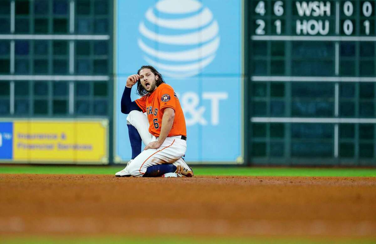 Former Astros outfielder Jake Marisnick (at Mets spring training on Feb. 14, 2020)After apologizing, Marinsick said: