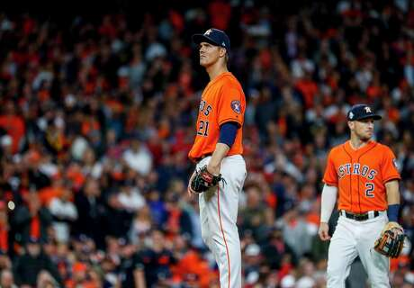 Despite a brilliant start in Game 7 of the World Series at Minute Maid Park, Houston Astros pitcher Zack Greinke was yanked in the 7th inning as the the visiting Washington Nationals' bats began to wake up.