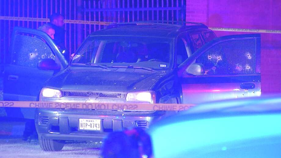 Two men were ambushed and killed in a parking lot of an apartment complex on the city's East Side early Thursday morning, San Antonio police said. Photo: Ken Branca