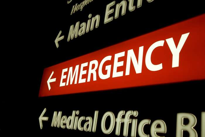 shot of neon emergency sign
