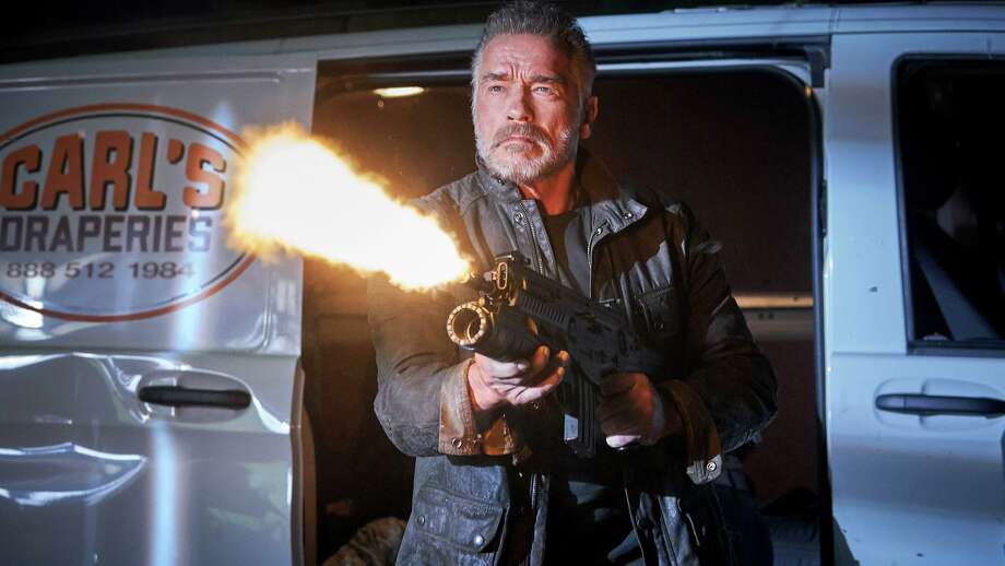 "Arnold Schwarzenegger returns to the ""Terminator"" franchise in ""Terminator: Dark Fate,"" a sequel whose plot ignores the events of the last three sequels. Photo: Kerry Brown / Skydance Productions/Paramount Pictures / © 2018 SKYDANCE PRODUCTIONS AND PARAMOUNT PICTURES."