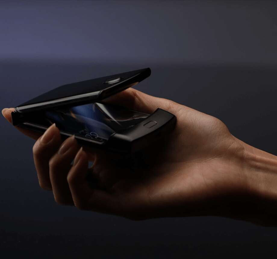 A leaked image of Motorola's new foldable Razr. Photo: Evan Blass