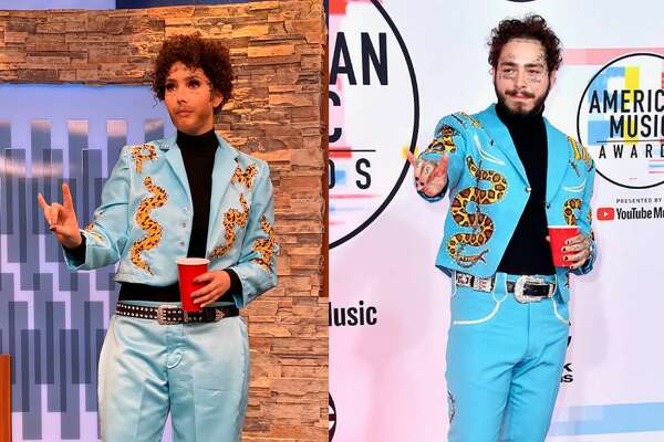 Fox News First morning anchor Breanna Barrs as Post Malone.