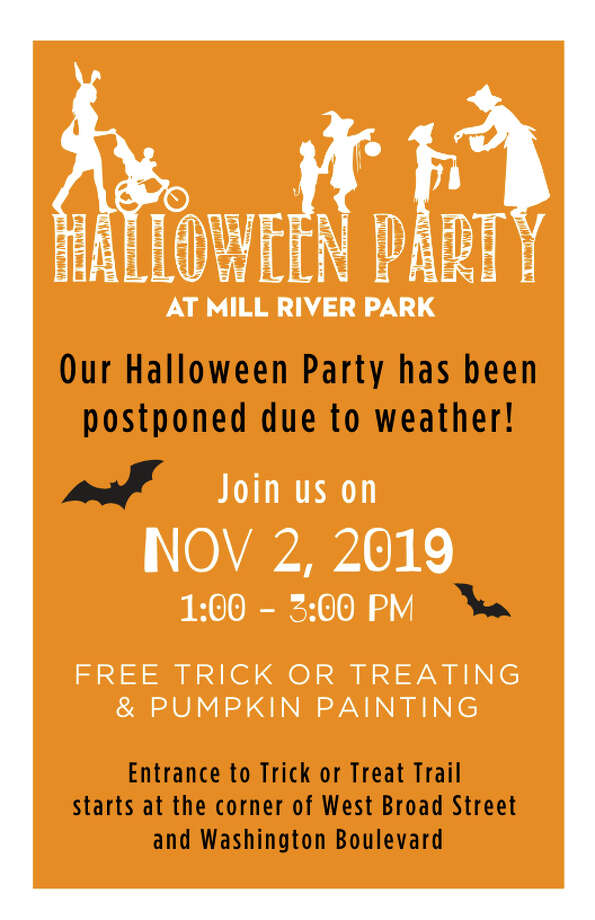 Rain has pushed the family Halloween Party at Mill River Park to Saturday. Photo: Contributed