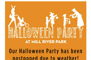 Rain has pushed the family Halloween Party at Mill River Park to Saturday.