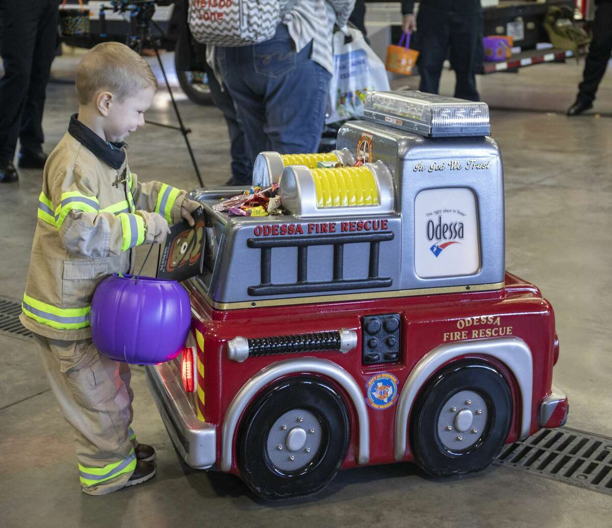 The Odessa Fire Rescue and Odessa Police Department held a Halloween Trunk or Treat Thursday, Oct. 31, 2019 at Central Fire Station.