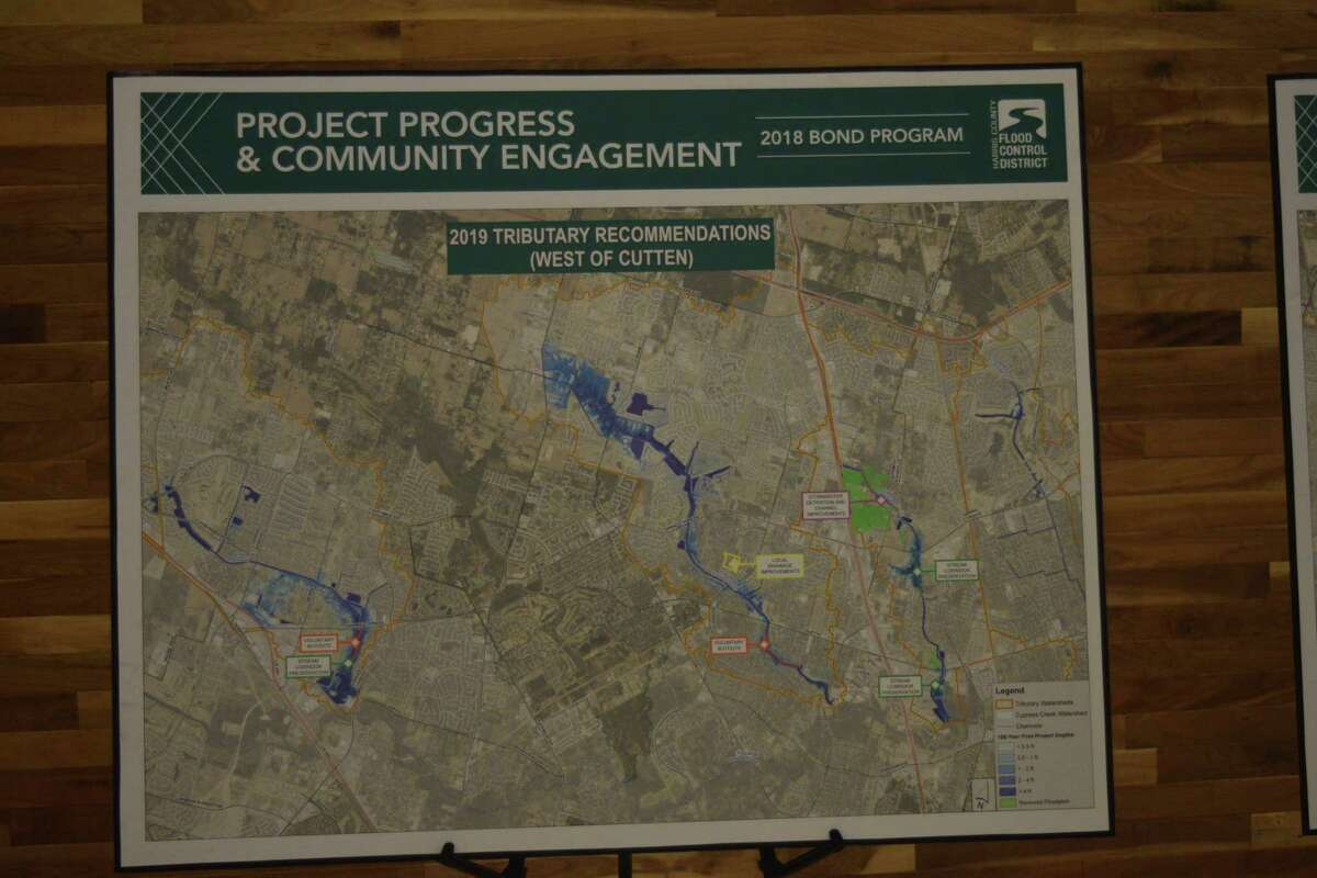 Cy-Fair residents gathered atHouston's FirstBaptist Church tolearn about updated plans concerning flood mitigation in the area from Harris County Flood Control District, including neighborhood projects and more.