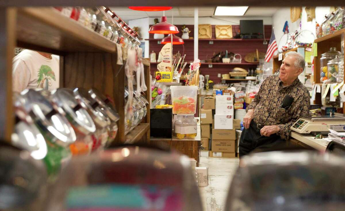 Donald Baker, 88, talks to a customer at The Candy Shop on Glen Loch Drive, Wednesday, Oct. 30, 2019, in Spring.