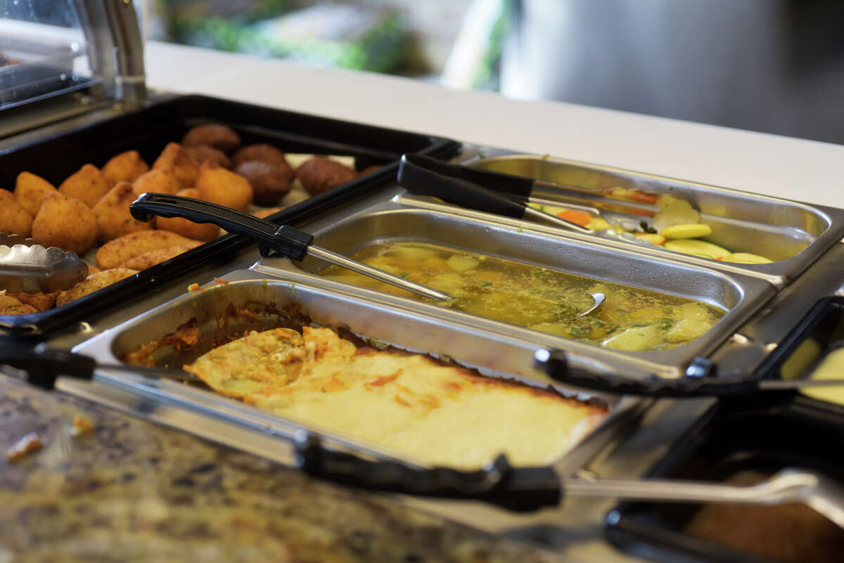 A view of some of the food on the buffet at the newly opened Brazilian Steakhouse on Central Ave. on Thursday, Sept. 5, 2019, in Colonie, N.Y. (Paul Buckowski/Times Union)