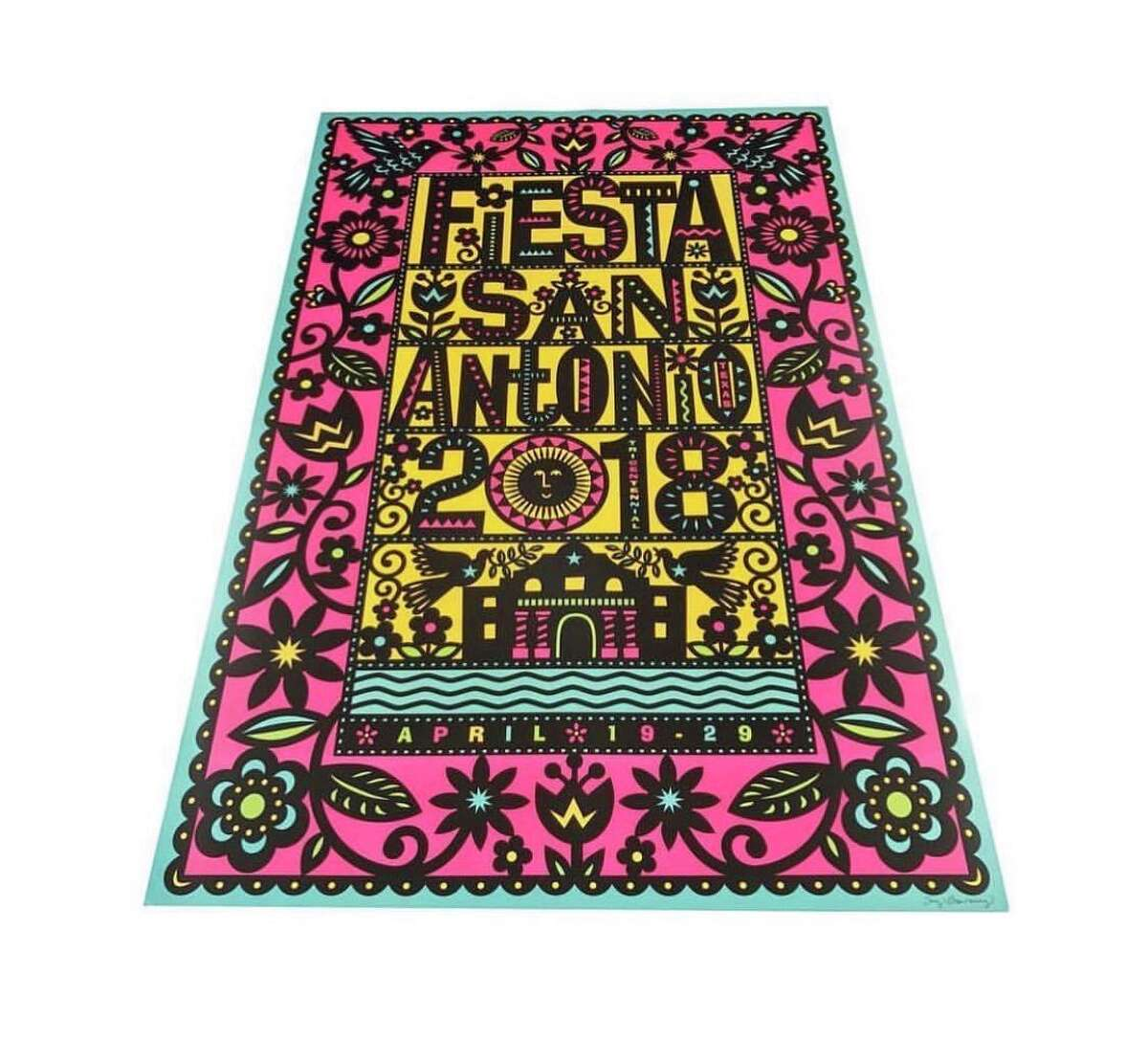 The 2018 Fiesta poster by Suzan Browning.