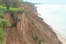 Rising Lake Michigan water levels are taking a big toll on shoreline property. At 6 p.m.on Nov. 12 a Community Shoreline Erosion Meeting will be taking place at the Manistee Middle/High School Auditorium. The program will feature many individuals who will be able to answer questions and provide details on what is available to help property owners. (File photo)
