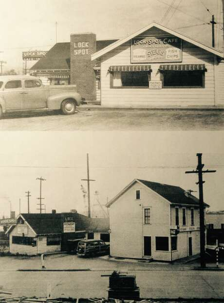 In a post card from 1932, the Lockspot Cafe reveals its historic digs. Photo: Courtesy The Lockspot Cafe