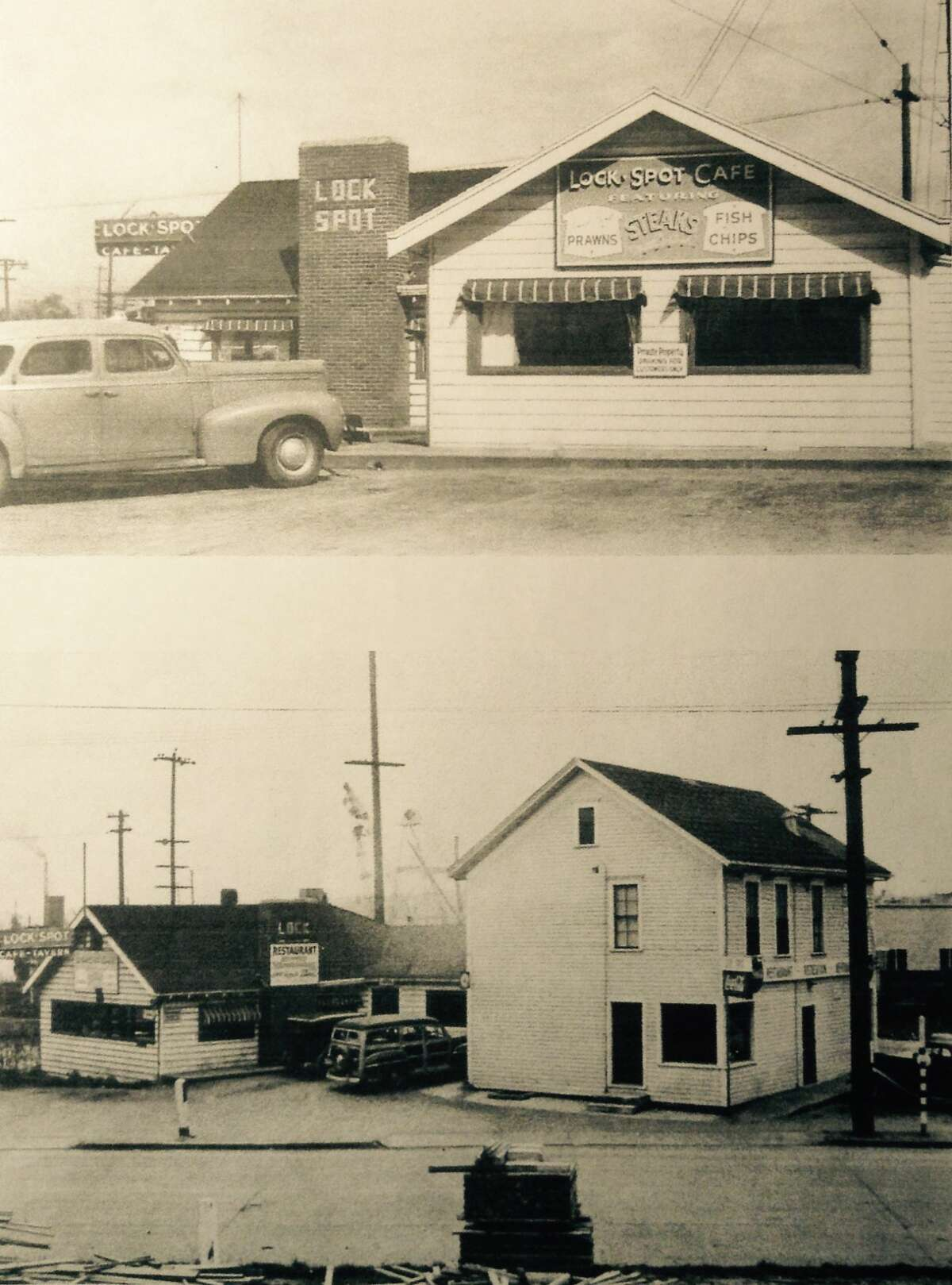 In a post card from 1932, the Lockspot Cafe reveals its historic digs.