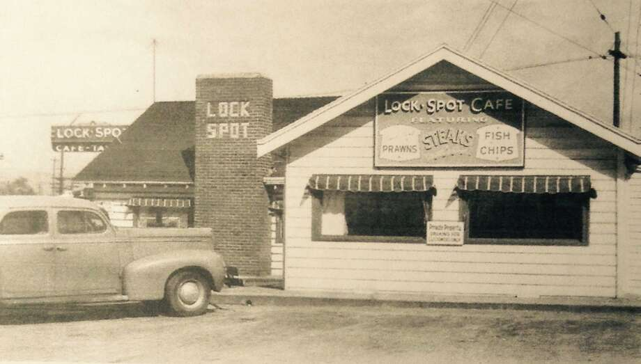 In a post card from 1932, The Lockspot Cafe reveals its original digs. Keep clicking for more photos of Ballard then and now. Photo: Courtesy The Lockspot Cafe