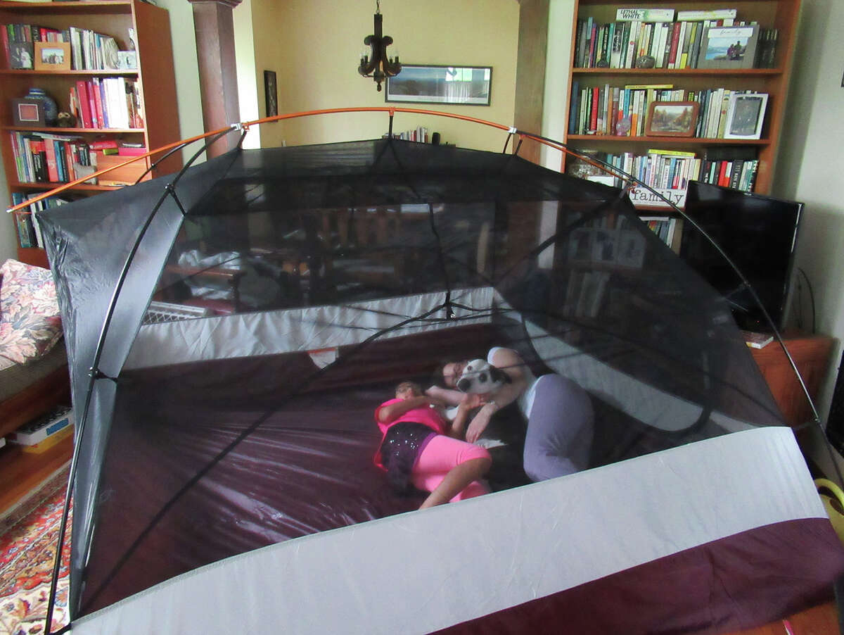 When you're excited about camping you set up the new tent in the living room the day it arrives. (Herb Terns / Times Union)