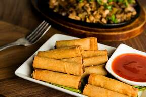 The Shanghai lumpia is completely vegan at Filipino takeout spot Nick's on Mission.