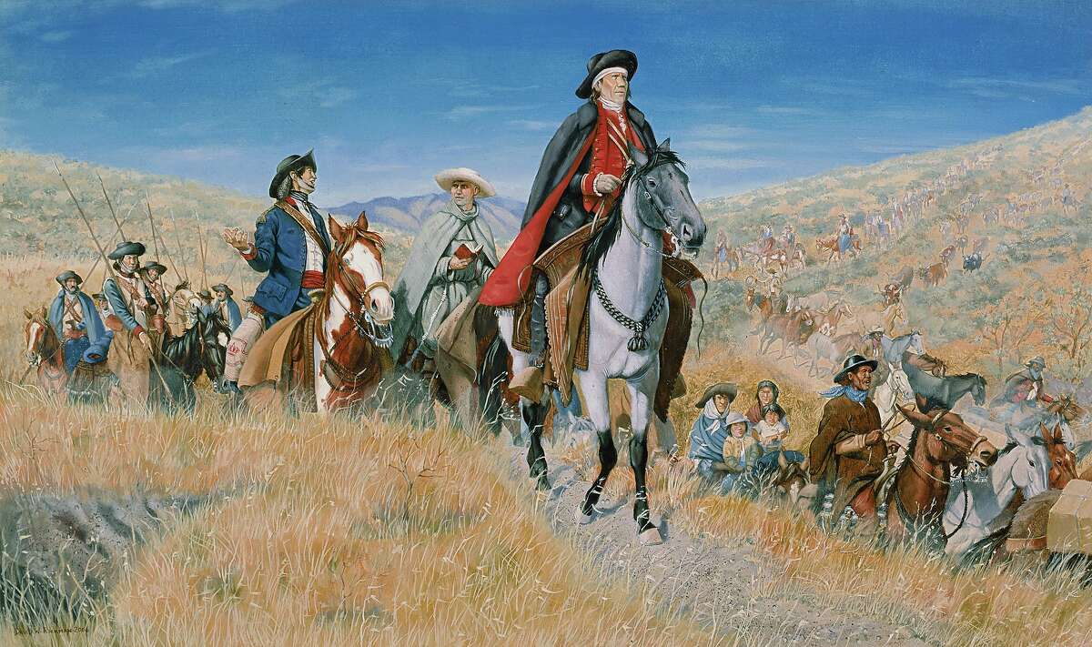 FILE - This is a generic illustration of the historic Juan Bautista de Anza National Historical Trail which recognizes the 18th century route taken by Anza and his military and settlers from Sonora, Mexico to California' s Bay Area.
