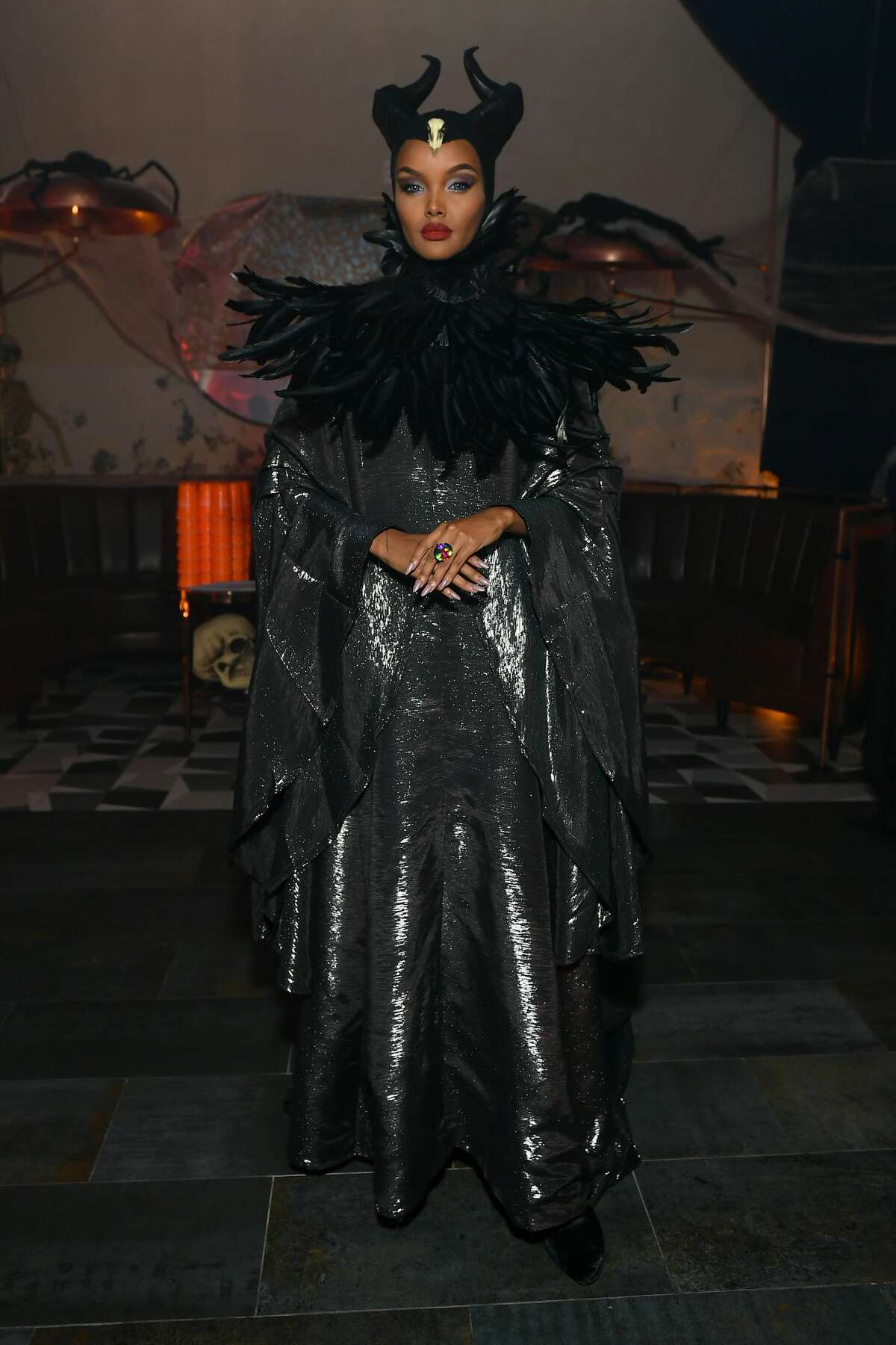 Halima Aden attends Heidi Klum's 20th Annual Halloween Party presented by Amazon Prime Video and SVEDKA Vodka at Cathédrale New York on October 31, 2019 in New York City. (Photo by Mike Coppola/Getty Images for Heidi Klum)