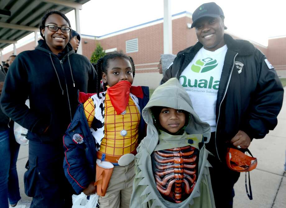 Halloween trick-or-treaters filled Charlton-Pollard Elementary for a trunk-or-treat event Thursday night. Photo taken Thursday, October 31, 2019 Kim Brent/The Enterprise Photo: Kim Brent/The Enterprise