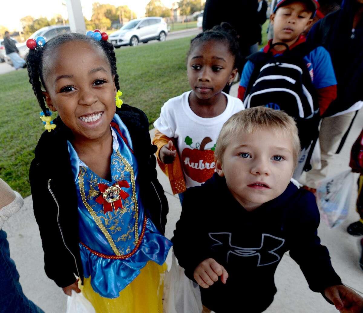 Halloween trick-or-treaters filled Charlton-Pollard Elementary for a trunk-or-treat event Thursday night. Photo taken Thursday, October 31, 2019 Kim Brent/The Enterprise