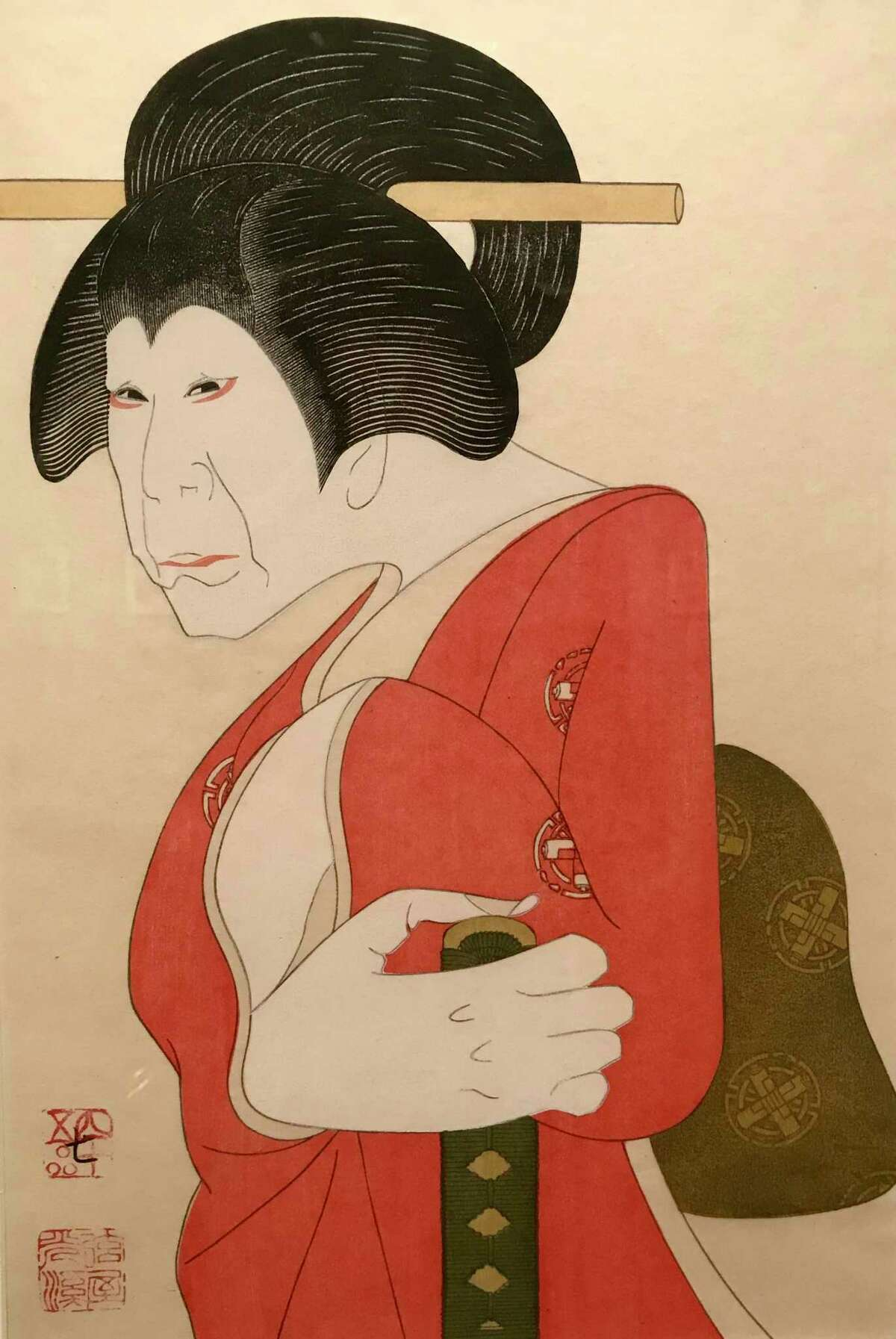A Tsuruya Kokei print from 1984 exudes graceful humanity.