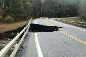 The overnight storm that caused flooding caused damage to Hadley Hill Road at Paul Creek. Saratoga County says the road is closed in the Town of Day and drivers should find other routes through the area.