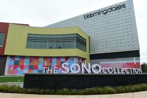 The SoNo Collection mall on the eve of its October 11 opening in Norwalk, Conn.