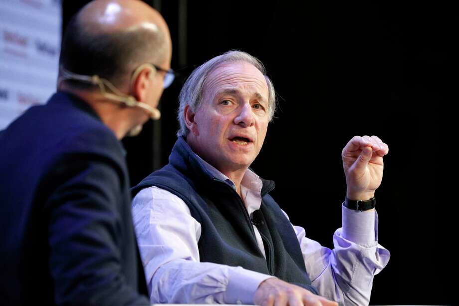 TechCrunch Contributor Gregg Schoenberg and Bridgewater Associates Founder & Co-Chairman/Co-CIO Ray Dalio speak onstage during TechCrunch Disrupt San Francisco 2019 at Moscone Convention Center on Oct. 02, in San Francisco, Calif. Photo: Kimberly White / Getty Images For TechCrunch / 2019 Getty Images