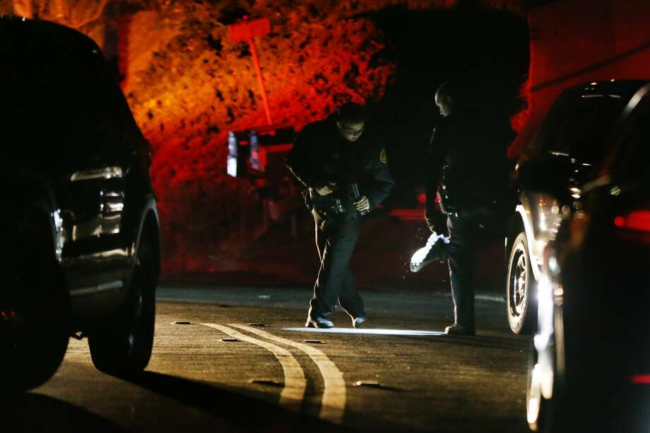 Contra Costa County Sheriff deputies investigate a multiple shooting on Lucille Way in Orinda, Calif., on Thursday, Oct. 31, 2019. Four people died and several others were injured at Halloween party in a short-term rental property according to Orinda Police Chief David Cook. (Photo by Ray Chavez/MediaNews Group/East Bay Times via Getty Images) Photo: MediaNews Group/East Bay Times V/MediaNews Group Via Getty Images