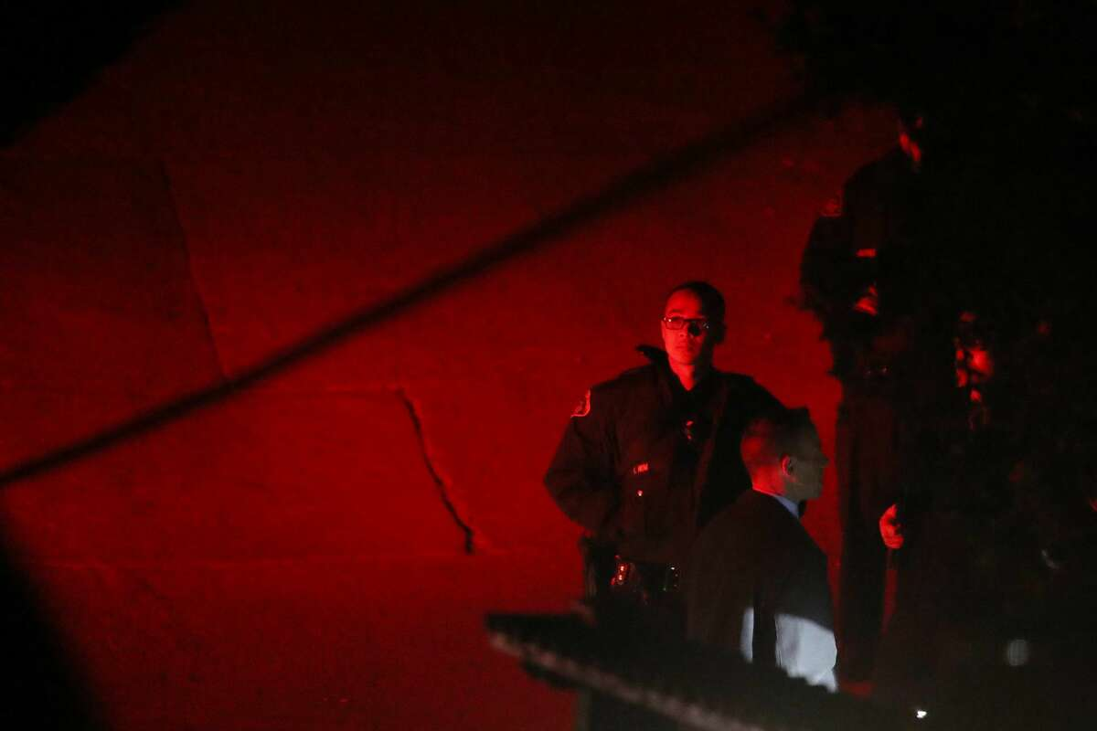 Contra Costa County Sheriff deputies investigate a multiple shooting on Lucille Way in Orinda, Calif., on Thursday, Oct. 31, 2019. Four people died and several others were injured at Halloween party in a short-term rental property according to Orinda Police Chief David Cook.