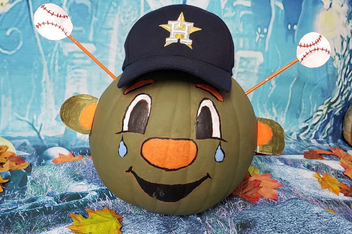 This teary-eyed pumpkin decorated like Astros mascot Orbit could sum up the moods of many fans Thursday and Friday in the wake of the team's World Series upset at the hands of the underdog Nationals.