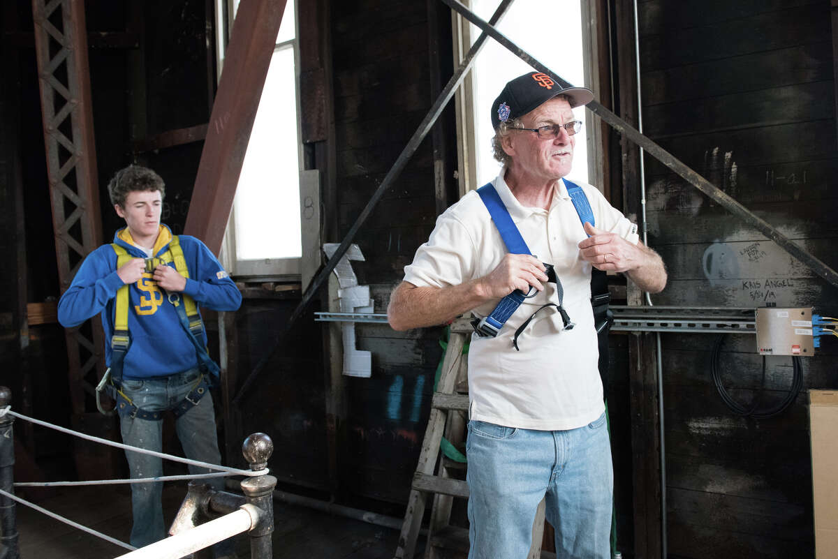 A rare look inside the Ferry Building clock tower with third-generation steeplejack, Jim Phelan.