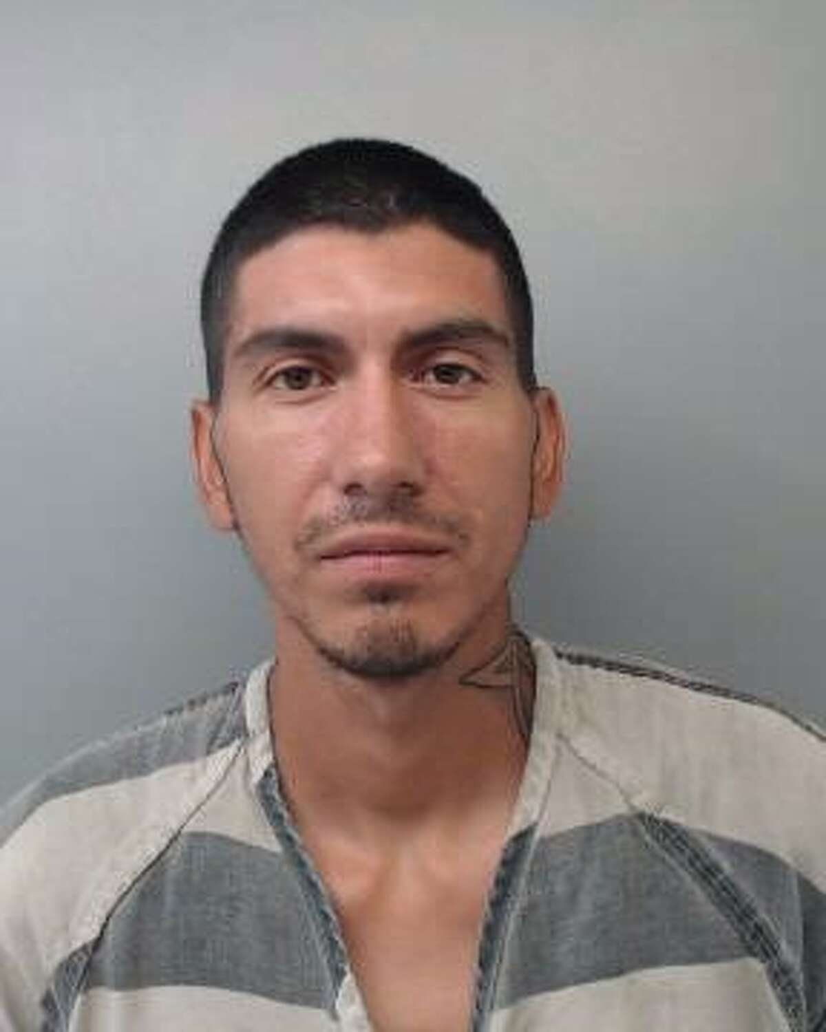 Erick Banda, 33, was served with a warrant charging him with Theft of Property.