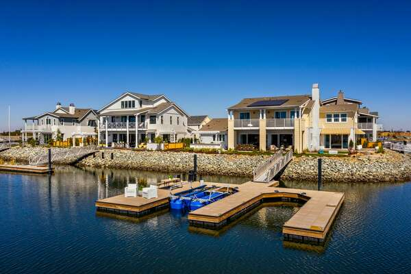 Homes at Delta Coves feature private docks and boat slips, and floor plans are oriented toward the back of the residence for maximum indoor/outdoor livability. The master-planned community of 560 residences is on the doorstep of the Sacramento-San Joaquin River Delta