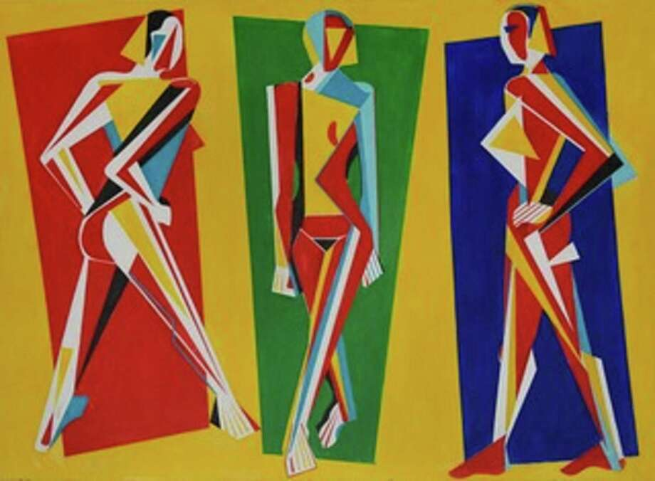 """Guy Phillips' """"Triple Nude Combo."""" Photo: Kershner Gallery / Contributed Photo"""
