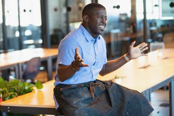 SEATTLE, WA - JUNE 24: Chef Edouardo Jordan Junebaby, Salare, Lucinda Grain Bar speaks as WeWork and the James Beard Foundation host dinner and discussion about sustainability and food choices, bringing together Seattle's top leaders in food, sustainability, public policy, business, tech, and media on June 24, 2019 in Seattle, Washington. (Photo by Mat Hayward/Getty Images for WeWork)
