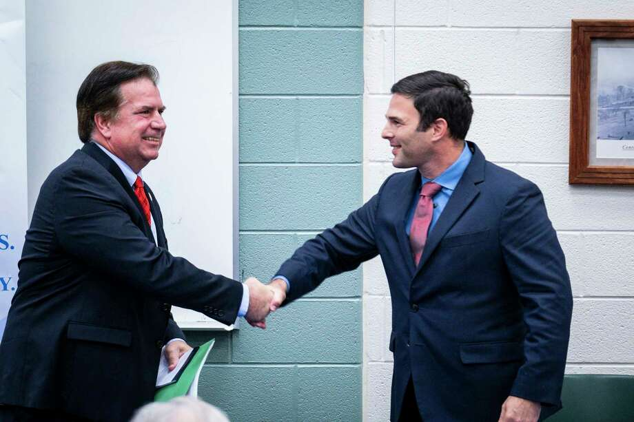 Del. Tim Hugo, left, the last remaining Republican in the state legislative delegation from Northern Virginia, is facing Democratic challenger Dan Helmer, right, in the Nov. 5 state election. Photo: Photo For The Washington Post By Pete Marovich / Pete Marovich