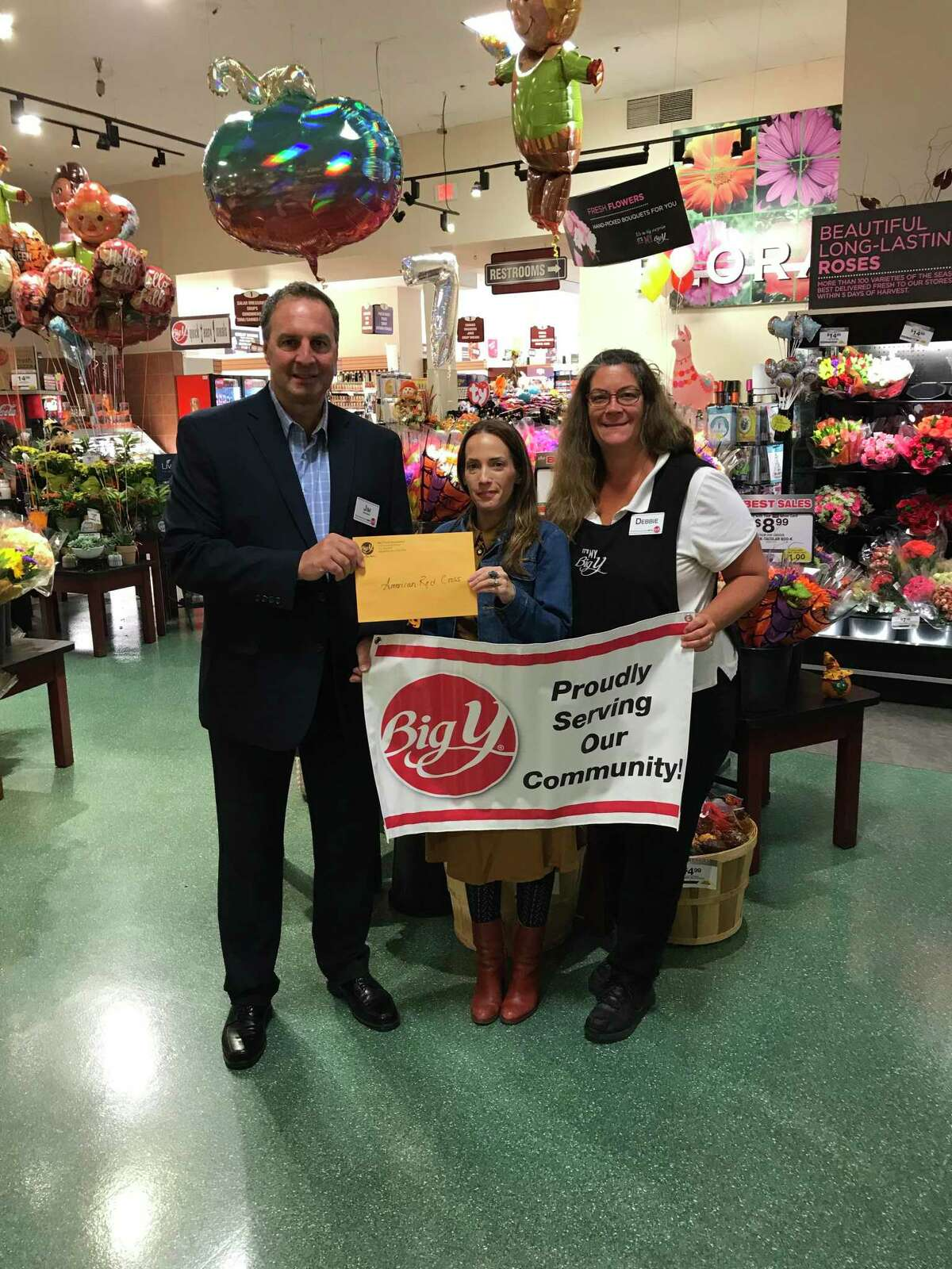 Big Y World Class Markets collected donations from customers and employees from Sept. 11 - 22 for American Red Cross Disaster Relief- Hurricane Dorian. A formal check presentation to the Connecticut American Red Cross was held on Oct. 25 at the West Hartford Big Y World Class Market. Jim Martin, store director of Big Y Foods presented the contribution to Kierstin Pupkowski, Regional Philanthropy Officer, Connecticut and Rhode Island Region.
