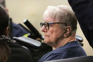 Convicted child killer Genene Jones, charged with five counts of murder in the deaths of infants while she worked at Bear County Hospital in the 1980s, is shown at a Nov. 1 court hearing.