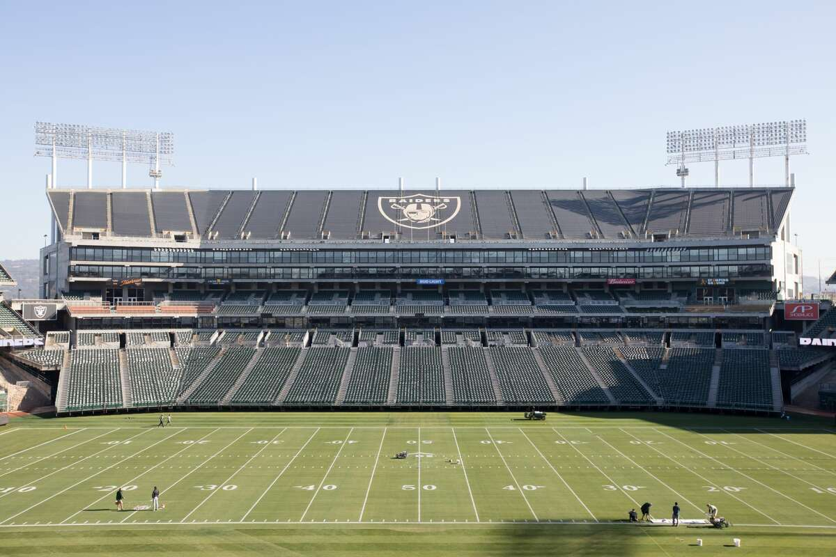 FILE - A group of business owners are seeking to bring bring an NFL franchise back to Oakland at the site of the Oakland-Alameda County Coliseum.