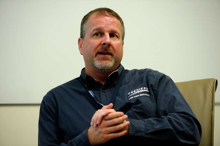 Doug Shanda, senior vice president of operations for Cheniere Energy, talks during a Monday, April 3, 2017 interview at the company's Sabine Pass LNG export terminal. The liquefied natural gas terminal shipped its 100th tanker of LNG on Saturday, April 1, 2017. Photo: Ryan Pelham / The Beaumont Enterprise / ©2017 The Beaumont Enterprise/Ryan Pelham