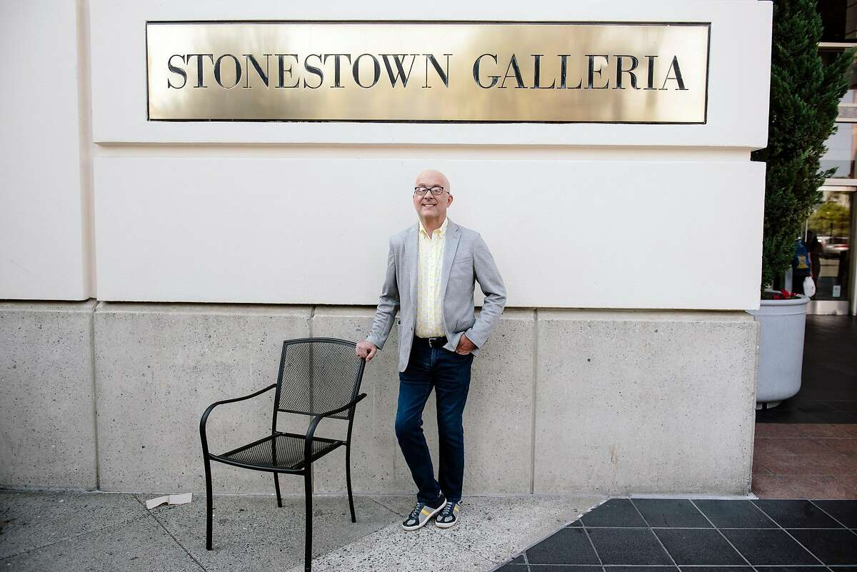 Senior General Manager Darren Iverson stands for a portrait in front of the Stonestown Galleria in San Francisco, California, on Friday, Oct. 25, 2019. The new ownership of the Stonestown Galleria are discussing potential housing development on portions of the mall property.