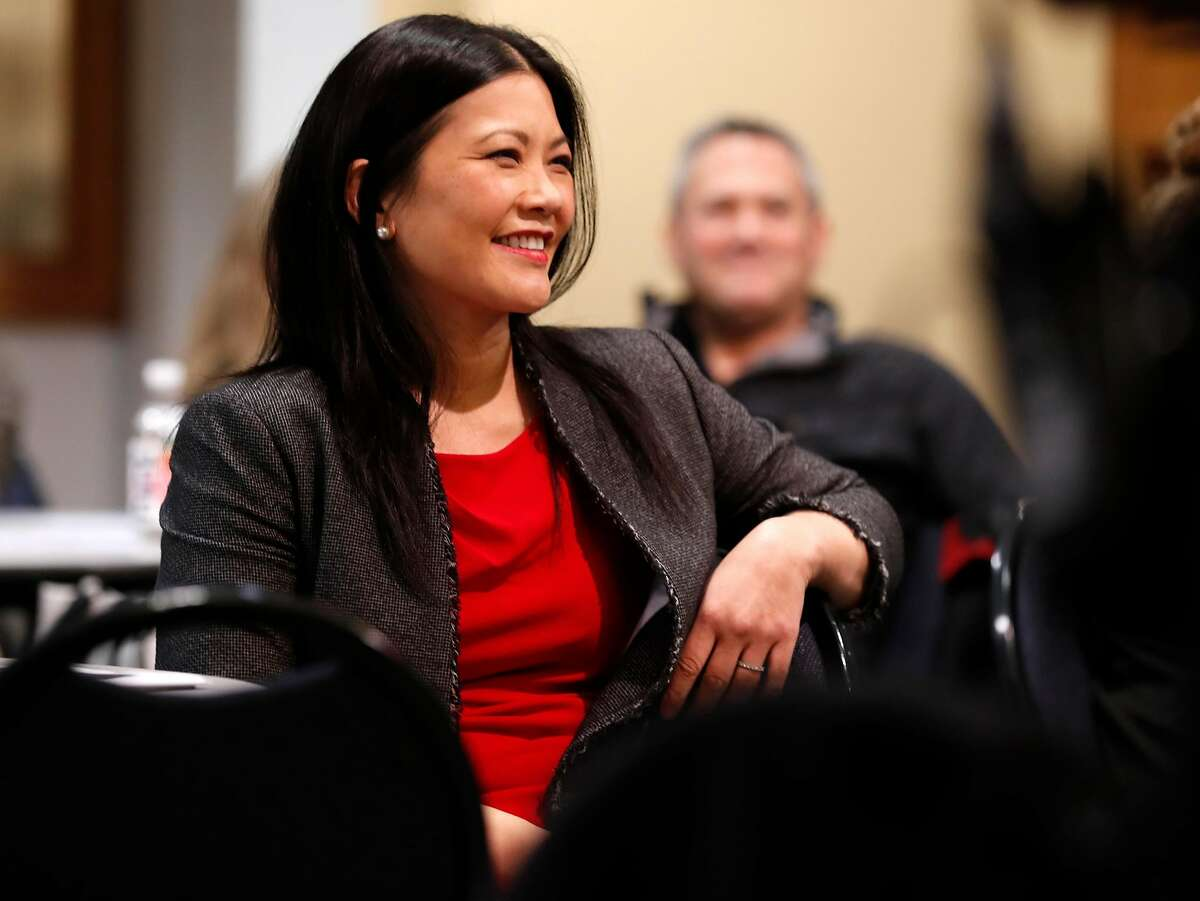 San Francisco District Attorney candidate Nancy Tung at Supervisor Catherine Stefani's community meeting in San Francisco, Calif., on Tuesday, February 5, 2019.