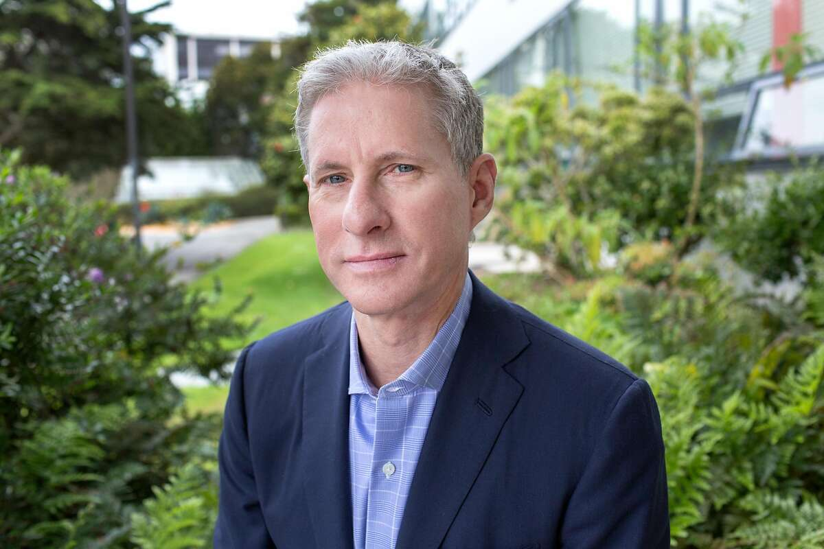 Chris Larsen, business executive and co-founder of the company Ripple Labs, Inc., poses for a portrait on campus of San Francisco State University, his alma mater, on Thursday, April 4, 2019. San Francisco, Calif.