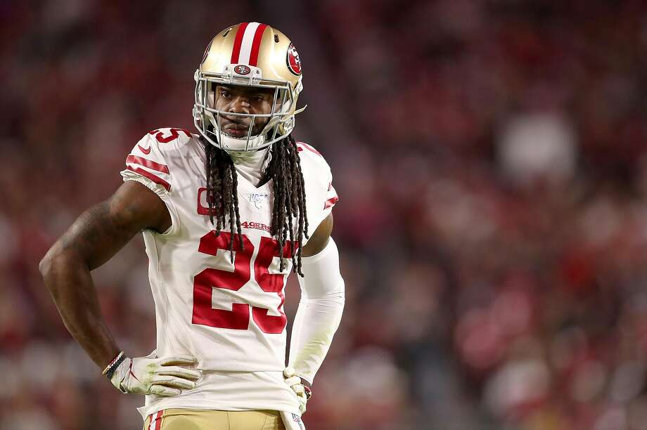 Cornerback Richard Sherman of the San Francisco 49ers looks on during the game against the Arizona Cardinals at State Farm Stadium on Oct. 31, 2019 in Glendale, Ariz. Photo: Christian Petersen / Getty Images 2019